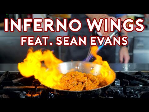 Binging with Babish Inferno Wing Challenge from Regular Show