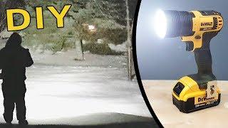 DIY : How to Make a Super Bright Flashlight - Dewalt 20V powered