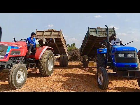 Xxx Mp4 50 HP Tractors Performance With Trailer Sonalika DI 47 RX Amp ARJUN NOVO 605 DI Tractors In Village 3gp Sex