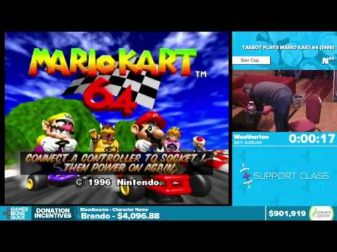 TASBOT Plays Mario Kart 64 by Weatherton in 4 31 Awesome Games Done Quick 2016 Part 151