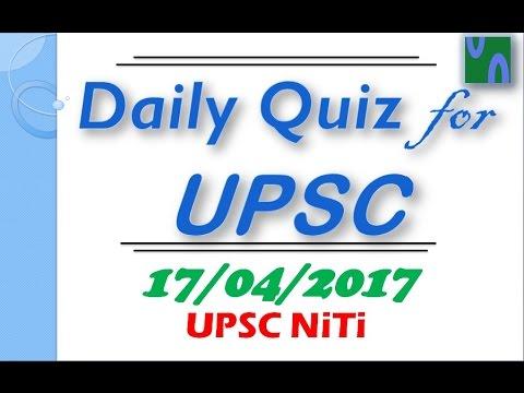 HINDI 17 April 2017 MCQ FOR UPSC PRELIMINARY EXAM Bhim Adhar App RUSA THE HINDU PIB