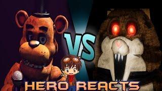 Hero Reacts l Freddy vs Mama JMB Rap Battle (FNaF vs Tattletail)