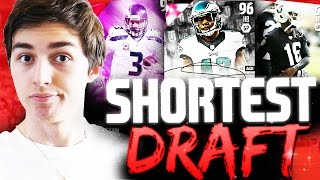 SHORTEST PLAYER DRAFT POSSIBLE! MADDEN 16 EXTREME DRAFT CHAMPIONS