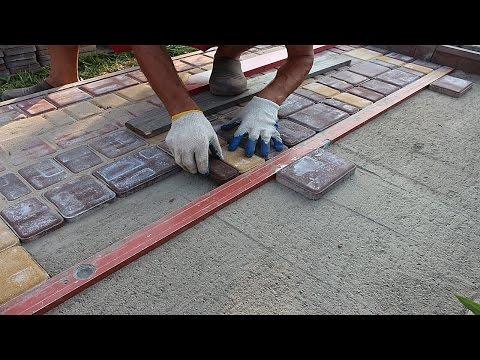 Фото тротуарной плитки своими руками