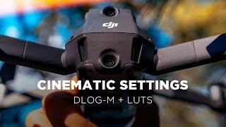 DJI MAVIC 2 PRO Best Camera Settings   DLOG-M + CINEMATIC LUTS