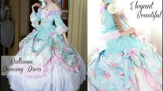 Try on Victorian Inspired Ballroom Dancing Dress