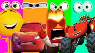 Wrong Eyes Inside Out The Emoji Blaze Monster Machines Disney Cars 3 Mcqueen Learn Colors song kids