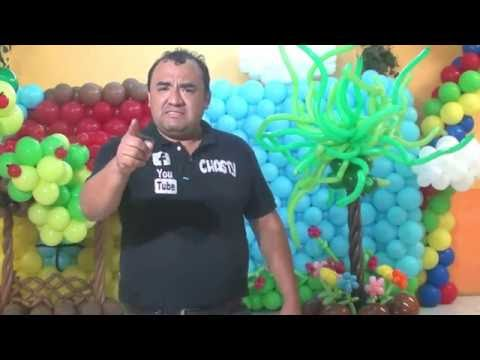 arbolito o arbusto con globos chasty