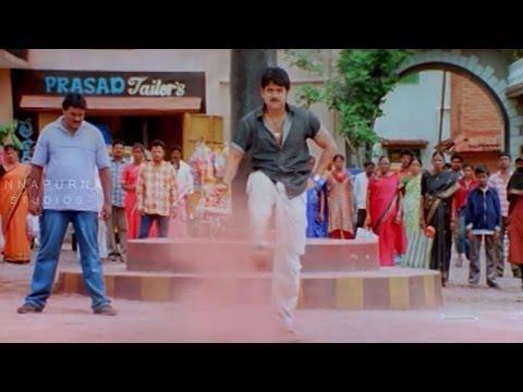 Nagarjuna Fighting With Rowdies For Sunil    Mass Movie