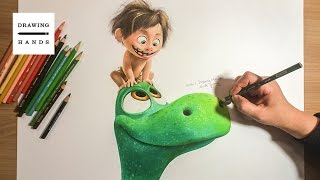 굿 다이노 - 알로 & 스팟 그림 그리기 (Speed Drawing Arlo & Spot | The Good Dinosaur) [Drawing Hands]