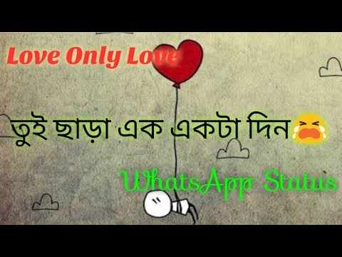 Bengali New WhatsApp status || tui chara ek ek ta din || ❤️Love Only Love❤️