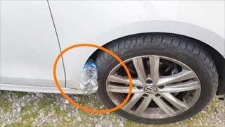"""تحذير!! خدعة جديدة مرعبة """"إذا شاهدت هذه العبوة البلاستيكية في إطار سيارتك، فأنت في خطر"""" !!"""