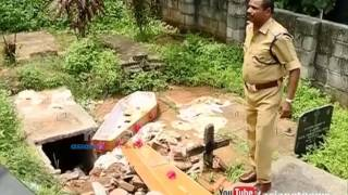 Son digged out Mother's dead body from grave at Pathanapuram