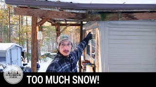 Winter Storm SNOW LOAD! Our Trailer Roof is COLLAPSING!