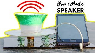 How to Make Speaker at Home - Using CD (DIY)