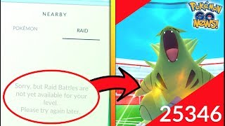 WHAT LEVEL DO YOU HAVE TO BE FOR RAIDS IN POKEMON GO? + UPDATE IS HERE!
