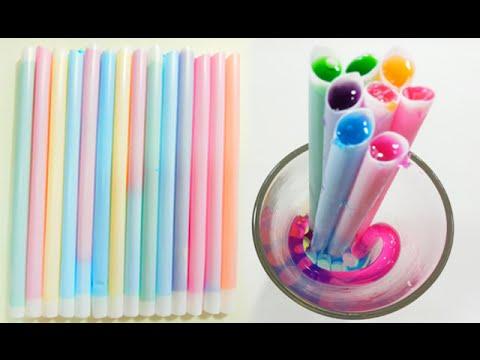 วิธีทำวุ้นหลอด - How to make Jelly Stick with Straws | วุ้นแฟนซี