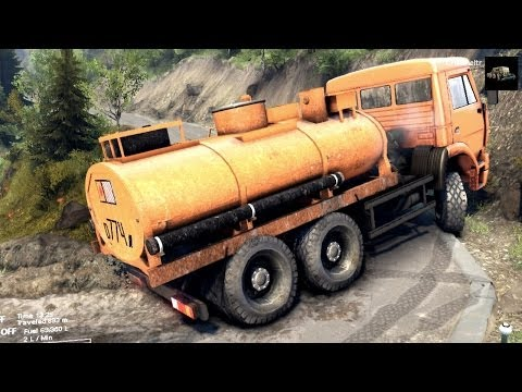 SPINTIRES 2014 The Hill Map Kamaz Fuel Cistern Removing the 3rd Cloacking