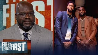 Shaq disagrees LeBron - AD are the best duo, talks state of the Lakers | NBA | FIRST THINGS FIRST