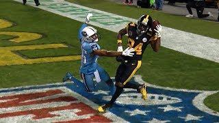 Antonio Brown INSANE One-Handed Helmet Catch!   Titans vs. Steelers   NFL