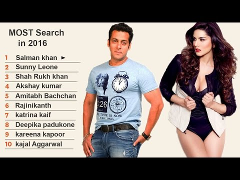 Salman khan & Sunny Leone MOST Search Actors in Bollywood