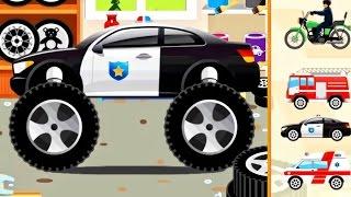 Cars for KIDS : Monster Truck - Police Car, Ambulance, Fire Truck for Children