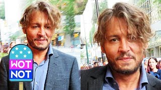 Johnny Depp Surprises Hundreds Of Fans With Hugs, Autographs And Selfies in Vancouver!