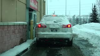 Tim Hortons Coffee Shop Drive Thru in Brampton Canada 4K
