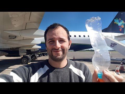 Como esmagar uma garrafa usando um avião
