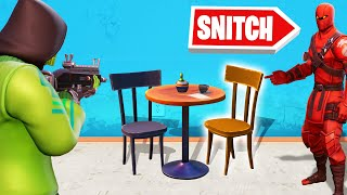 SNITCH The PROP in FORTNITE HIDE AND SEEK!