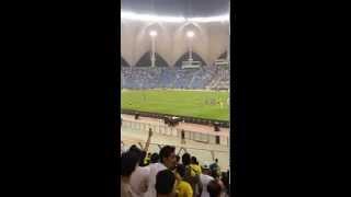 النصر و الهلال اخر انفاس المباراة و لحظة صافرة الحكم من مدرج جماهير النصر ابدااااع