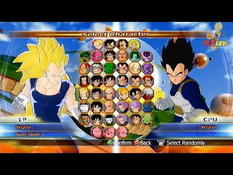 DragonBall Raging Blast Summon Shenron All Characters In Select Screen 【HD】