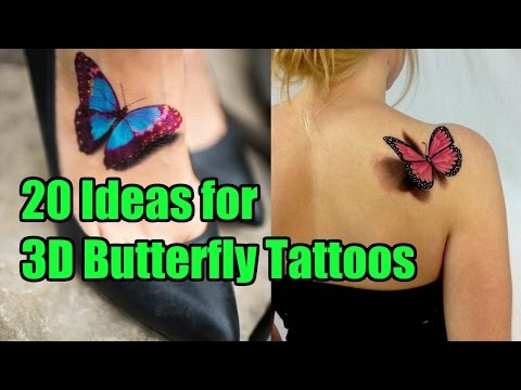 20 Unique Ideas for 3D Butterfly Tattoos TATTOO WORLD