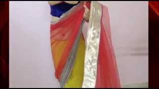 Lehenga Saree Draping(Butterfly Style Simple Lehnga Sari Half n Half For Party)