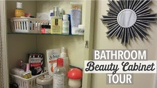 Bathroom Beauty Cabinet Tour | Organization