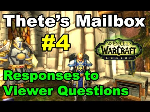 Thete's Mailbox #4 Viewer Responses and Questions