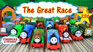 THE GREAT RACE #236 THOMAS AND FRIENDS TRACKMASTER THOMAS THE TANK ENGINE| Thomas Video for Kids