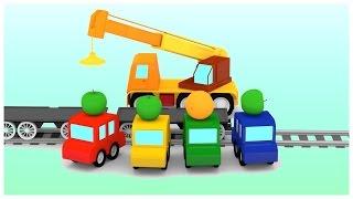 BANANA TRAIN CRASH - Car Cartoons for Kids - Car Videos for Children Kid's Cartoons