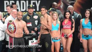 Manny Pacquiao vs Tim Bradley FULL WEIGH-IN