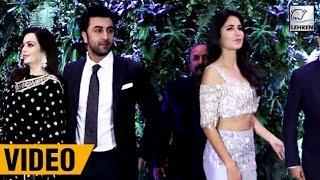 Ranbir Kapoor And Katrina Kaif IGNORE Each Other | Virushka Reception | LehrenTV