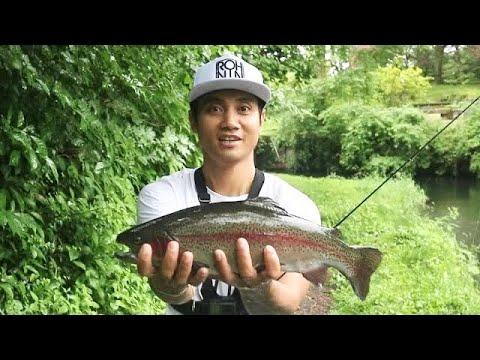 SERU! Mancing Di Jepang, rainbow trout lompat | Mancing Vlog BAli EP #62