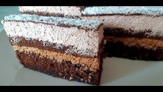 SOCNI COKOLADNI KOKOS KOLAC - CHOCOLATE COCONUT CAKE