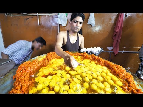 Indian Street Food in Mumbai 400 Egg BIGGEST Scrambled Eggs BEST Seafood in Mumbai India