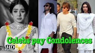 SRK, Deepika, Ranveer stand by Sridevi's family in hour of grief