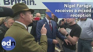 Nigel Farage receives a mixed reception in Torquay