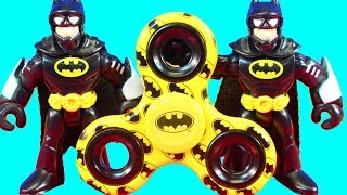 Impossible Fidget Spinner Tricks! With Replicating  Imaginext Batman