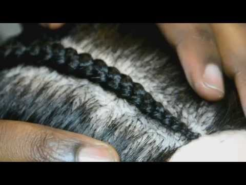 How to Cornrow using Ghana Braid technique for graduated effect