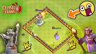GRAND WARDEN DEFENSE MODE vs GRAND WARDEN ATTACKING MODE | OMG! WHO WiNS? | EPIC HERO vs HERO | COC