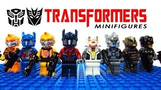 LEGO Transformers: Age of Extinction KnockOff Minifigures with Optimus Prime Megatron Bumblebee