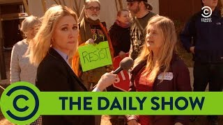 Trump Protesters Are Paid - The Daily Show | Comedy Central